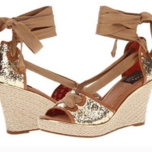 Milly for Sperry glitter espadrille wedge heels
